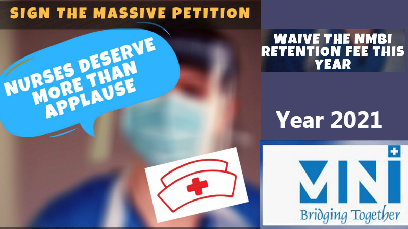 Nurses urge the Health Minister and NMBI to waive the NMBI Annual Retention Fee -2021