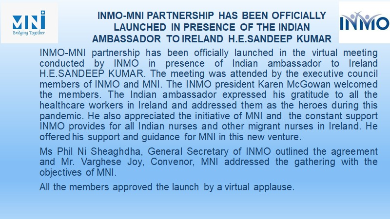 INMO Launches Agreement with Migrant Nurses Ireland